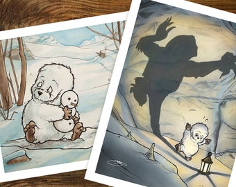 The Adventures of Little Yeti, Art Prints Set