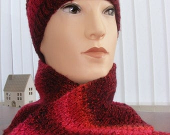 Hand knitted 100% Acryilic chunky knit womens, mens, youths and childrens beanie, hat and scarf sets