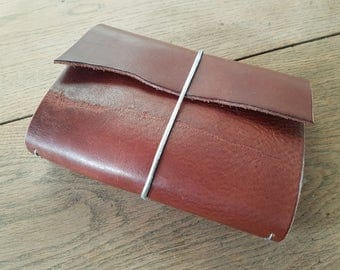Jane, leather travel journal cover