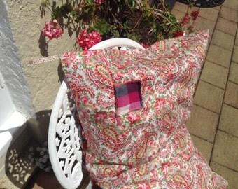 Silk Corral on Homestead Paisley+Plaid TOOTHFAIRY pocket