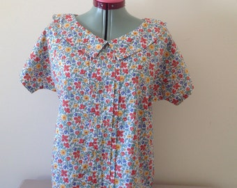 Liberty of london cotton meadow flowers blouse approx size 16
