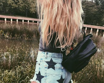 Hand Painted Vintage Jean Shorts