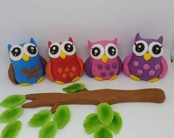 Owl edible cake topper, decoration