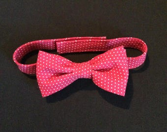 Toddlers Red Polka Dot Bow Tie, Red with White Polka Dots Bow Tie, Boys Red Polkadot Bow Tie, Toddlers Adjustable Bowtie, Polka Dot Baby Tie