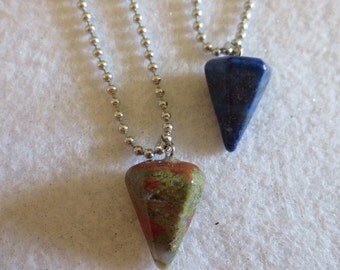 Two Natural Gem Crystal stone Necklaces