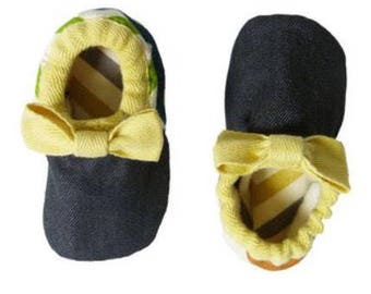 CAMP BABY 'Bodhi' Organic Cotton Slippers/ House Shoes / Baby Booties for Girls and Boys