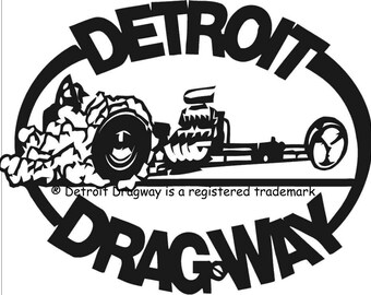 Detroit Dragway® Black Dragster Decal