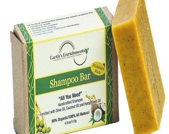 Shampoo Bar - Moisture Rich with Hemp Seed Oil | All Natural with Organic Ingredients - FREE SHIPPING