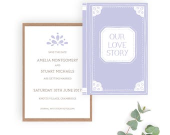 Love Story Wedding Save the Date card