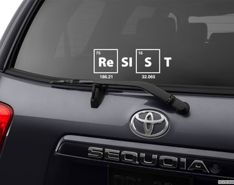 Science Decal, Resist Decal, Resist Bumper Sticker, March for Science, pro-science auto car window decal wall decal graphic sticker