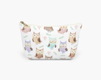 Owls Make Up Bag.  Wash Bag. Cosmetics Bag. Toiletries Bag. Large, Medium and Small available.