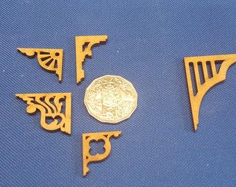 Miniature Verandah Brackets 1:12 scale (pair) - variety
