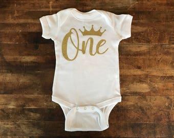First Birthday Onesie- Baby Girl