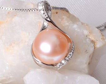 Freshwater Pearl POWER Necklace Sterling Silver