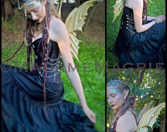 Bespoke, leather Faery wings. 'Honey'