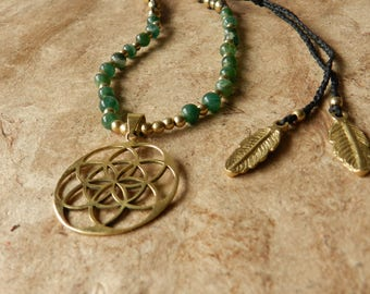 Root of Emerald Necklace seed of life