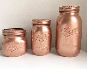 Copper Mason Ball jars