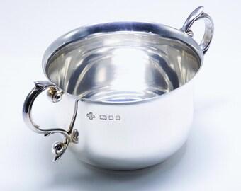 Quality Smart Solid Sterling Silver Porringer Bowl 1929/ L 14 cm/ 150 g