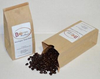 P17 - Two 8 oz Organic Roasted Coffee Beans, Ethiopian Sidamo FTO, Guatemala FTO Cafe Femenino, Costa rica Organic, Java Organic Dadar