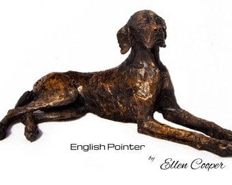 Bronze Resin English Pointer Dog