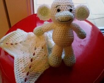 Nice monkey and his blankie