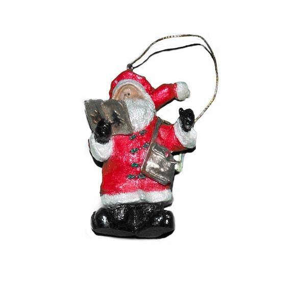 Santa With Book Tree Ornament