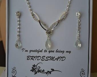 Regalia,Rhinestone Jewelry Set, Crystal Wedding Necklace Set, bridal jewelry set, wedding jewelry set, bridesmaid jewelry set.