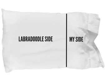 Labradoodle Pillow Case - Funny Labradoodle Pillowcase - Labradoodle Gifts - Labradoodle Side My Side