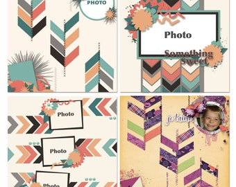 57 Chevies Digital Scrapbooking Templates