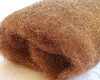 Merino Wool Roving - Coffee - 1 oz