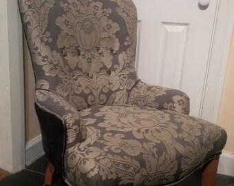 Re-upholstered Nursing/Bedroom Chair