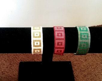 Woven bracelet square