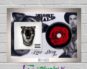 Yelawolf - Love Story CD Frame Presentation Rare Custom Radioactive Psycho White Trial By Fire Shady Travis Barker