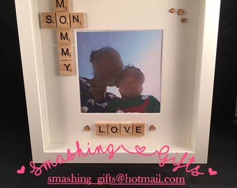 Mommy-Son-Love-Mothers-Day-Birthday-Christmas-Gift-Wooden-Scrabble-Tile-Frame