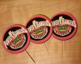 Power Rangers Cupcake Toppers set of 12