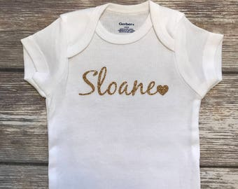 Personalized Onesie- Custom Onesie - Baby Onesie - Baby Girl - Baby Boy - Baby Outfit