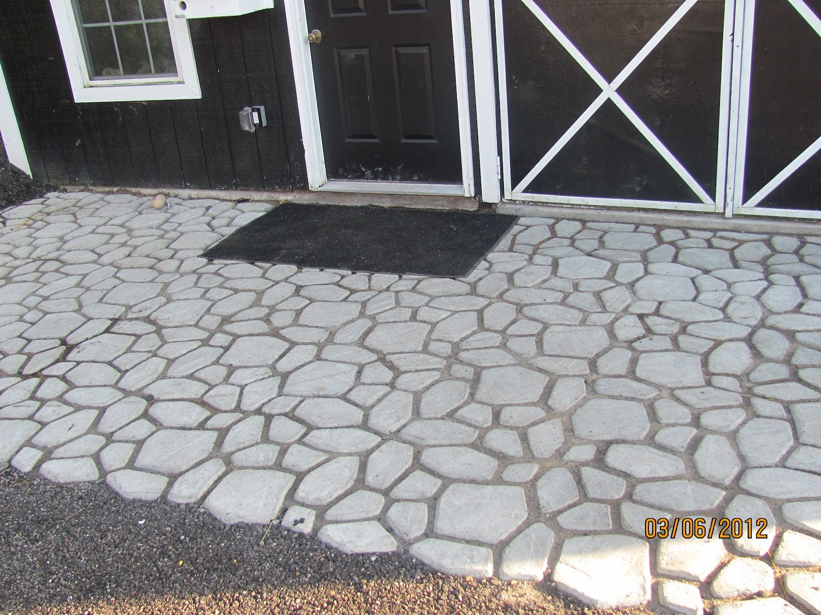 Molde pavimento bricolaje camino pl stico fabricante de moldes manualmente pavimento cemento - Pavimento jardin ...