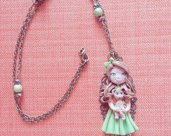 Necklace doll with Doggie