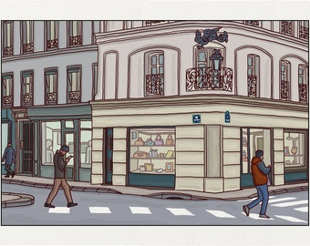 Crossroads Red Cross - Illustration Paris - printed on fine art paper