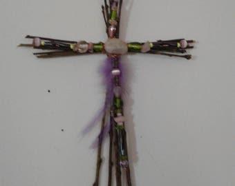 Rustic Twig Cross
