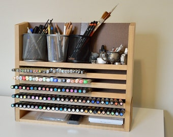 Art Supply Marker Pen Brush Rack Stand