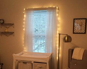 Curtains Ideas curtain lights for bedroom : Bedroom fairy lights – Etsy