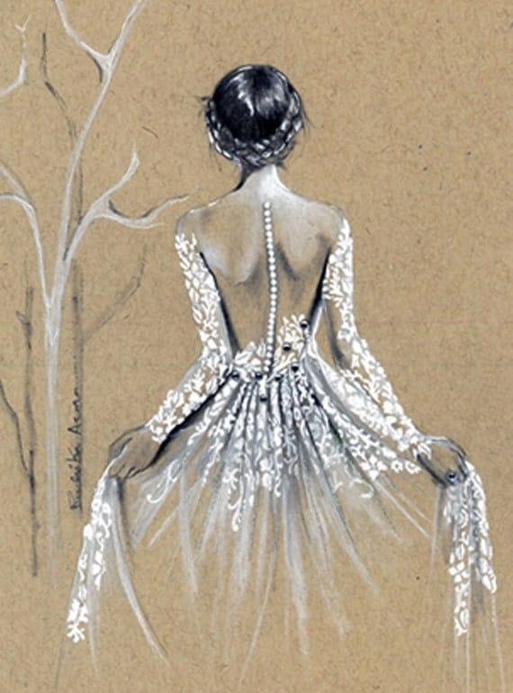 custom drawing designs custom fashion illustration custom bridal sketch wedding