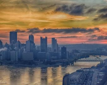 Pittsburgh Sunrise Digital