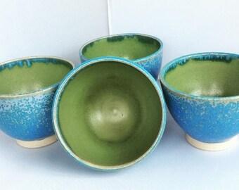 Blue Green Ceramic Bowls