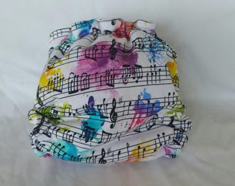 Music color splash cloth diaper
