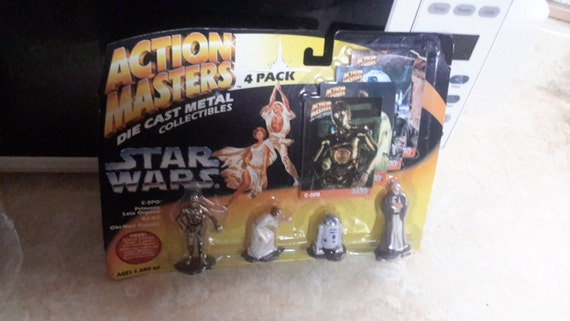 star wars action masters die cast 4 pack moc 1994 with trading cards