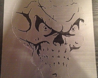 Skull#1 Stencil (5mil Buy 2 Get 1 Free! Mix & Match)