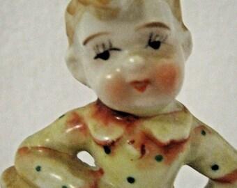 "Boy Figurine - Hand painted ""Japan"""
