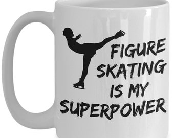 Figure Skating Mug, Our SuperPower Figure Skater Mug Is Perfect Figure Skating Gift! Get Your Ice Skating Mug & Join The Ice Skating Party!